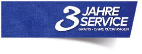 3 Jahre Service Garantie